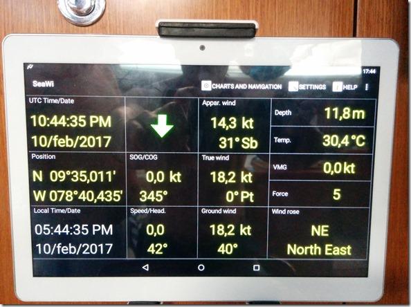 Tablet che fa da ripetitore di tutti i dati di navigazione