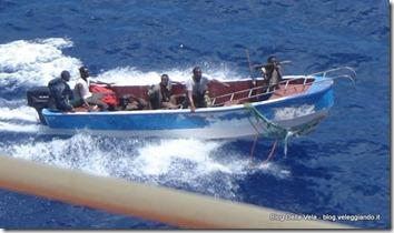 Una tipica lancia dei pirati
