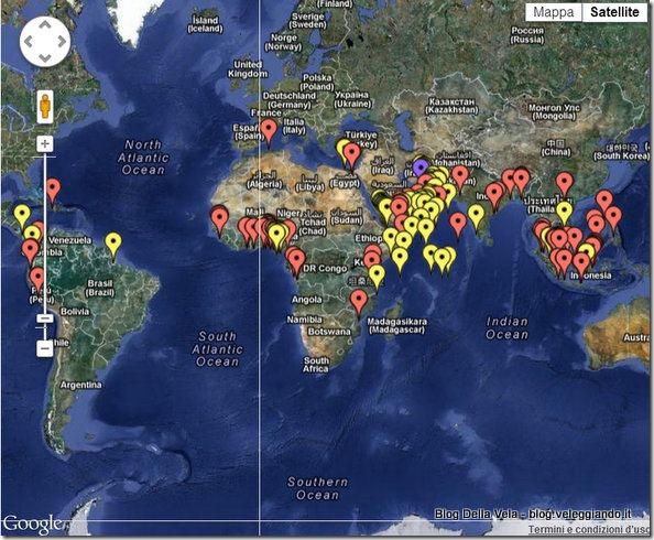 Mappa attacchi dei pirati