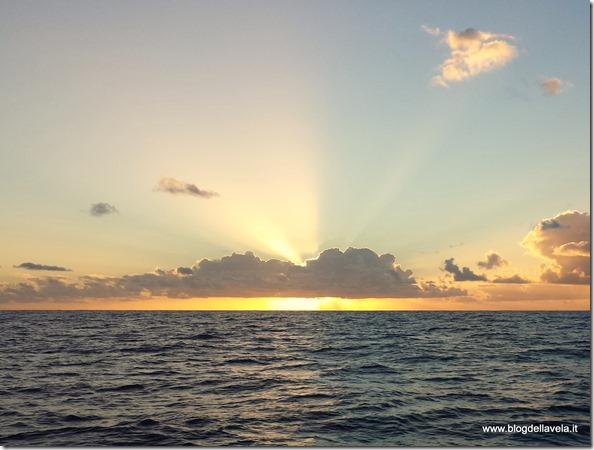 Tramonto in Oceano Atlantico