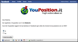 Youposition in Facebook